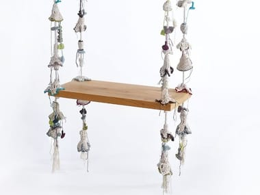 Wooden garden hanging chair SWING
