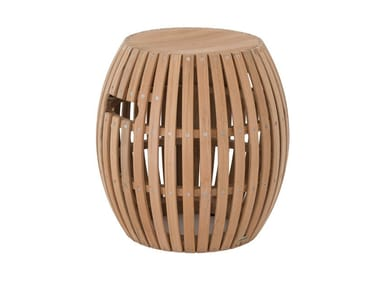 Low teak garden stool SWING | Stool