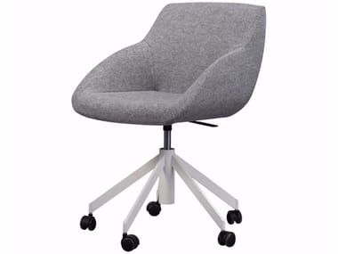 Swivel office chair with castors BLUE CONFERENCE - SWIVEL