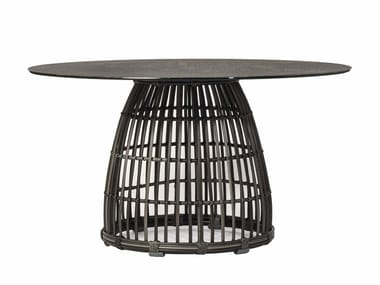 Round garden table SYMI COCOON | Garden table