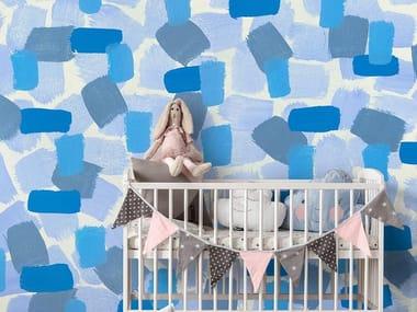Papel de parede de tecido não tecido para crianças SYMPHONY BLUE