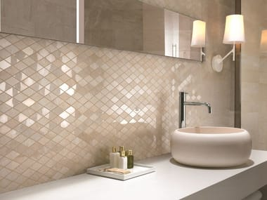 Porcelain stoneware wall tiles with marble effect SYMPHONY | Wall tiles