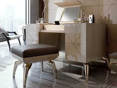 Low upholstered fabric stool SYMPHONY | Stool