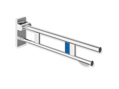 Maniglione bagno ribaltabile in acciaio inox per wc SYSTEM 900 | Maniglione bagno per wc