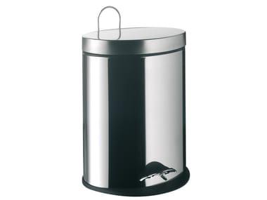 Stainless steel bathroom waste bin SYSTEM2 | Metal bathroom waste bin