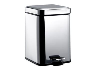 Stainless steel bathroom waste bin SYSTEM2 | Bathroom waste bin