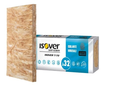 Mineral wool Thermal insulation panel / Sound insulation and sound absorbing panel in mineral fibre T-70