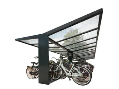 Metal porch for bicycles T-HIDE