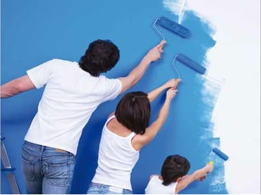 Water-borne decorative paints for interior