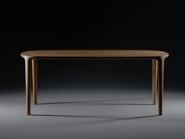 Rectangular solid wood table WU | Table