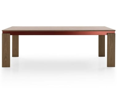 Rectangular wooden table PARALLEL STRUCTURE | Table