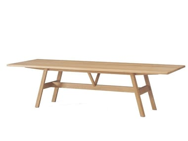 Rectangular solid wood dining table KANT   Table