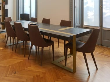 Rectangular marble table MAGNIFICA | Table