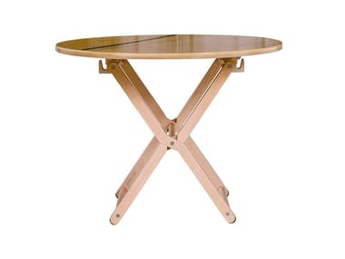Folding round dining table DINGHY | Table