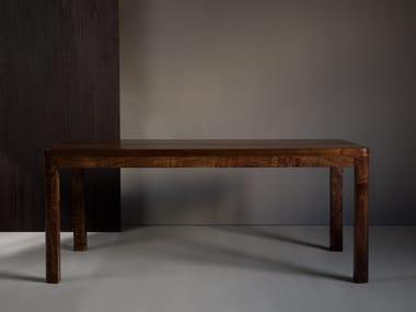Rectangular walnut table NORD | Table