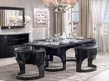 Lacquered rectangular dining table CHELSEA | Table