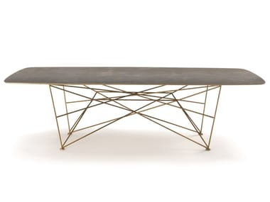 Tavolo rettangolare in gres porcellanato RAY | Tavolo