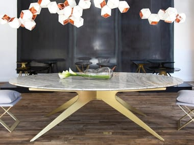 Oval marble table DEAN | Table