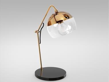 Lampada da tavolo in ottone con braccio flessibile BRUSSELS | Lampada da tavolo