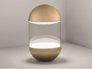 Lampada da tavolo a LED in alluminio e vetro PILLOLA | Lampada da tavolo