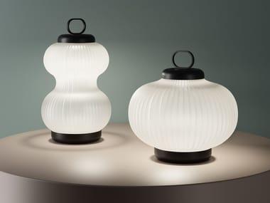 Lámpara de mesa de vidrio soplado KANJI | Lámpara de mesa