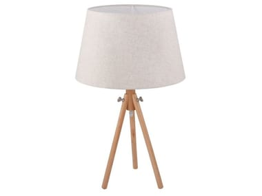 Height-adjustable wooden table lamp CALVIN | Table lamp