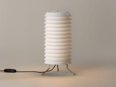 LED table lamp with dimmer with metallic lampshade MAIJA | Table lamp