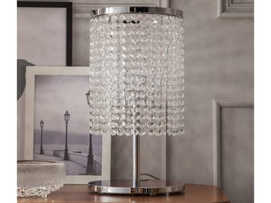 Table lamp with crystals SANTENA   Table lamp