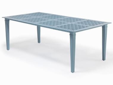 Rectangular aluminium garden table SIENNA | Table