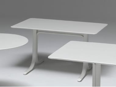 Folding rectangular steel table TABLE SYSTEM | Rectangular table