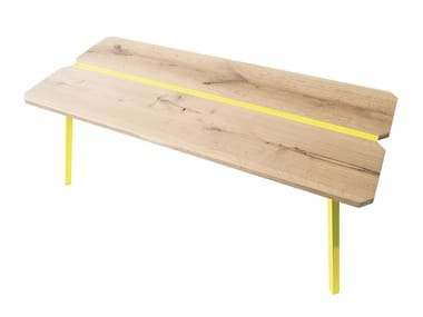 Rectangular steel and wood table MYWAY | Table