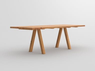 Rectangular solid wood table PAPILIO | Table