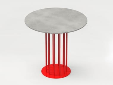 Round concrete table TABULA LABORARE