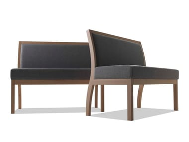 Modular fabric and beechwood bench TAI | Bench seating