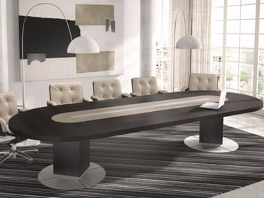 Oval meeting table with cable management TAIKO | Oval table