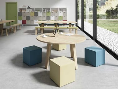 Melamine-faced chipboard table TAKE OFF EVOLUTION FARM | Round table