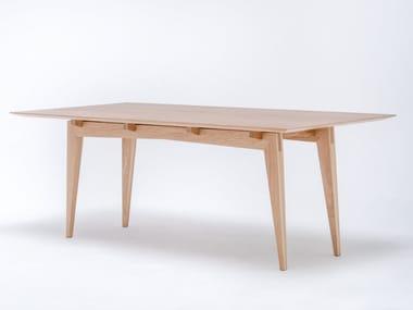 Tavolo da pranzo rettangolare in legno massello TAMAZA