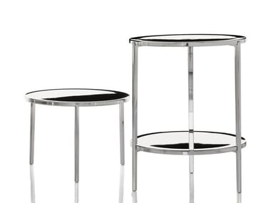 Low round aluminium coffee table TAMBOUR | Coffee table