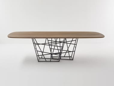 Rectangular wooden table TANGLE | Wooden table