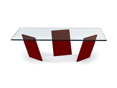 Tavolino rettangolare in vetro TANGO | Tavolino