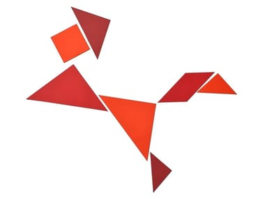 Magnet TANGRAM SHADES OF RED