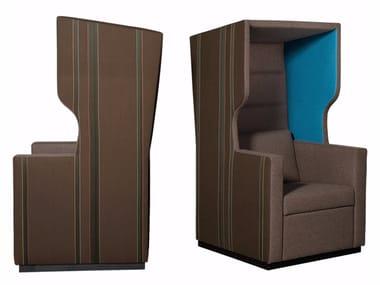 Sessel aus Stoff mit hoher Rückenlehne TANK ROOF | Sessel