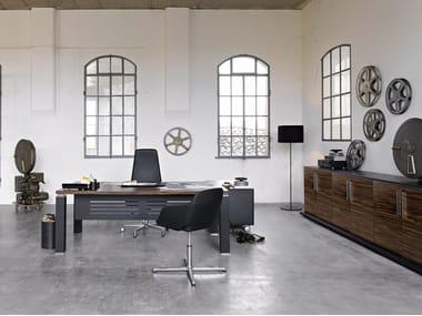 L-shaped wooden executive desk TAO EXECUTIVE | L-shaped office desk