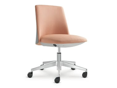 Fabric office chair with 5-Spoke base with castors MELODY DESIGN   Office chair