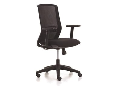Task chair with 5-Spoke base with armrests TEKNA | Task chair