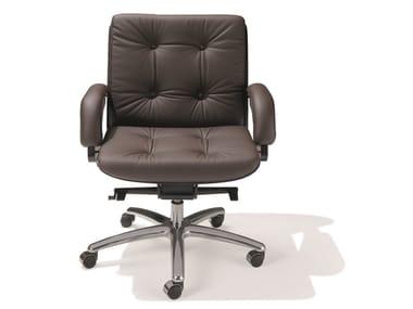 Swivel leather task chair NESI   Task chair