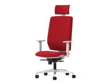 Swivel office chair with 5-Spoke base MIRAI WHITE | Office chair with 5-Spoke base