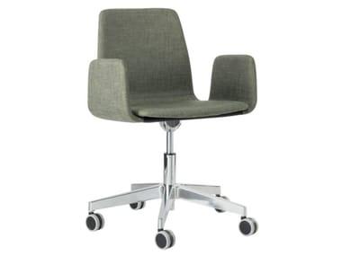 Fabric task chair with 5-Spoke metal base with armrests TECLA SB01 BASE 23