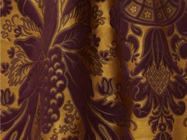 Damask silk and linen fabric TASSINARI & CHATEL - MONCEAU