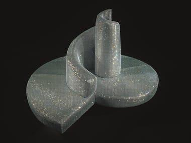Divano centro stanza rivestito con cristalli Swarovski TATLIN DIAMOND